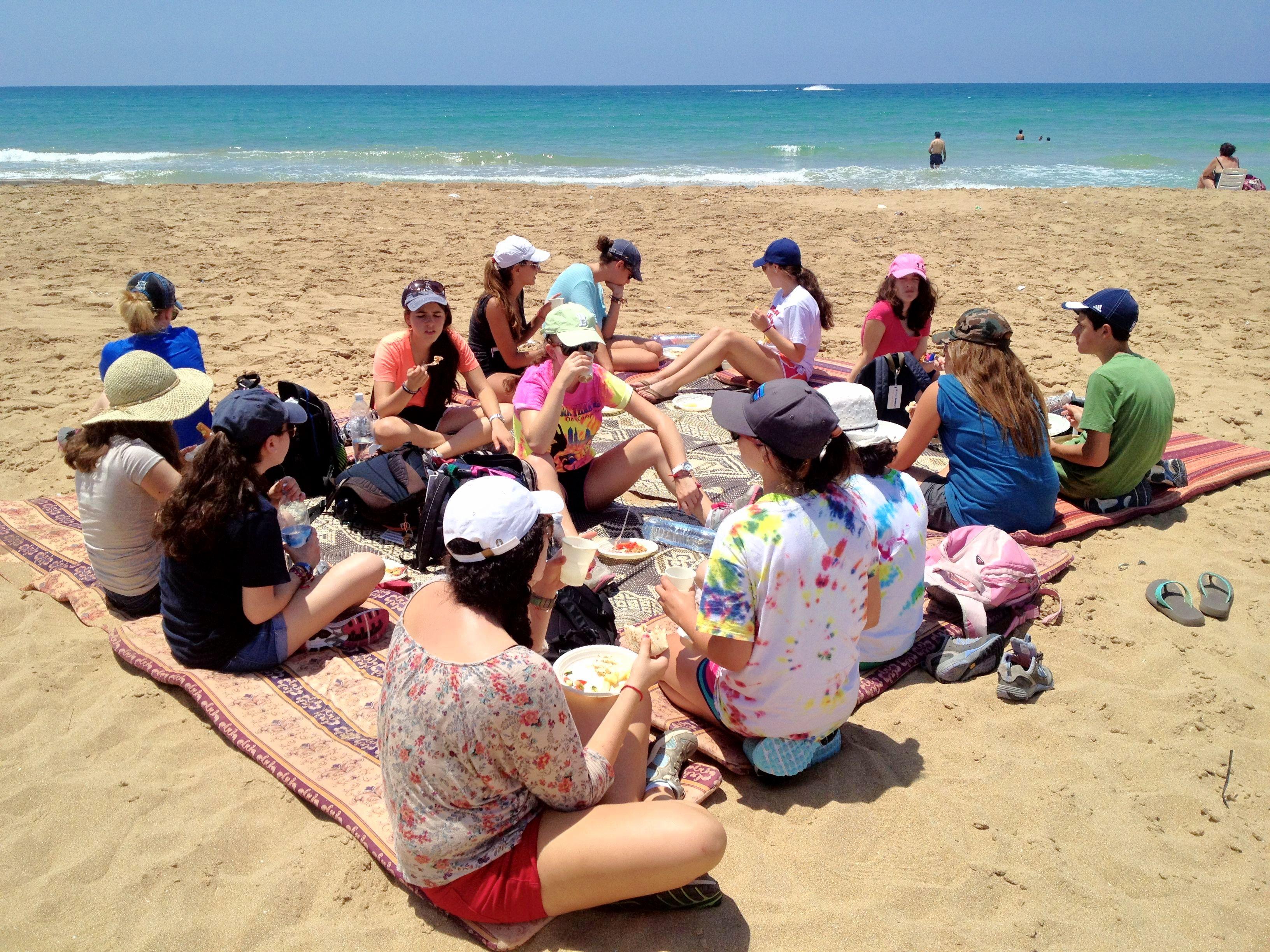 Eating on the Beach
